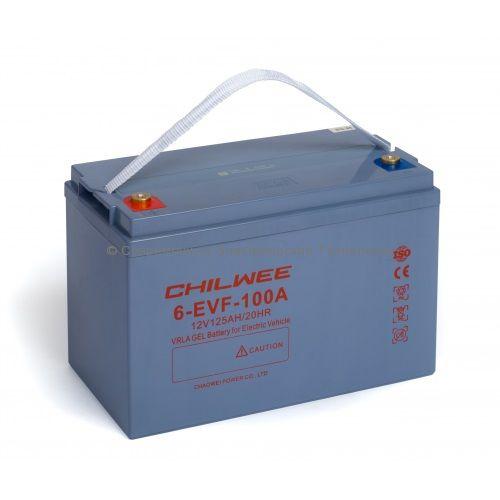 Тяговый гелевый аккумулятор 12В 113Ач (6-EVF-100A)