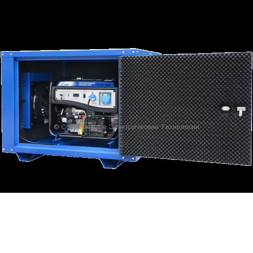 Бензиновый генератор ТСС 7кВА/7кВт TSS SGG 7000E в кожухе MK-1