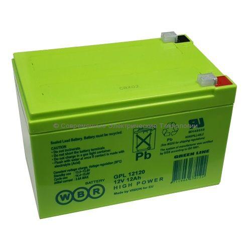 Аккумулятор герметичный WBR 12В 12Ач (GPL 12120)