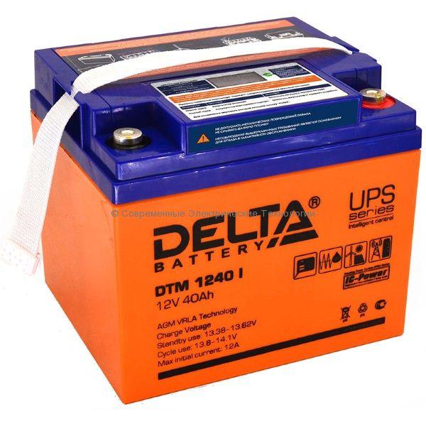Аккумулятор DELTA 12В 40Ач (DTM 1240 I)