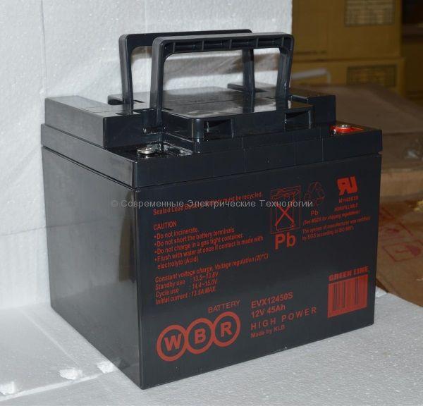 Аккумуляторная батарея тяговая 12В 45Ач (EVX12450S WBR)