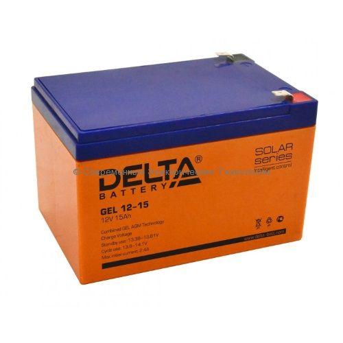 Аккумулятор гелевый DELTA 12В 15Ач (GEL 12-15)