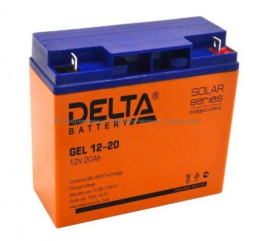 Аккумулятор гелевый DELTA 12В 20Ач (GEL 12-20)
