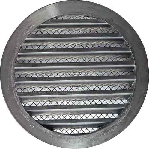 Круглая вентиляционная алюминиевая 125мм решётка типа RN al