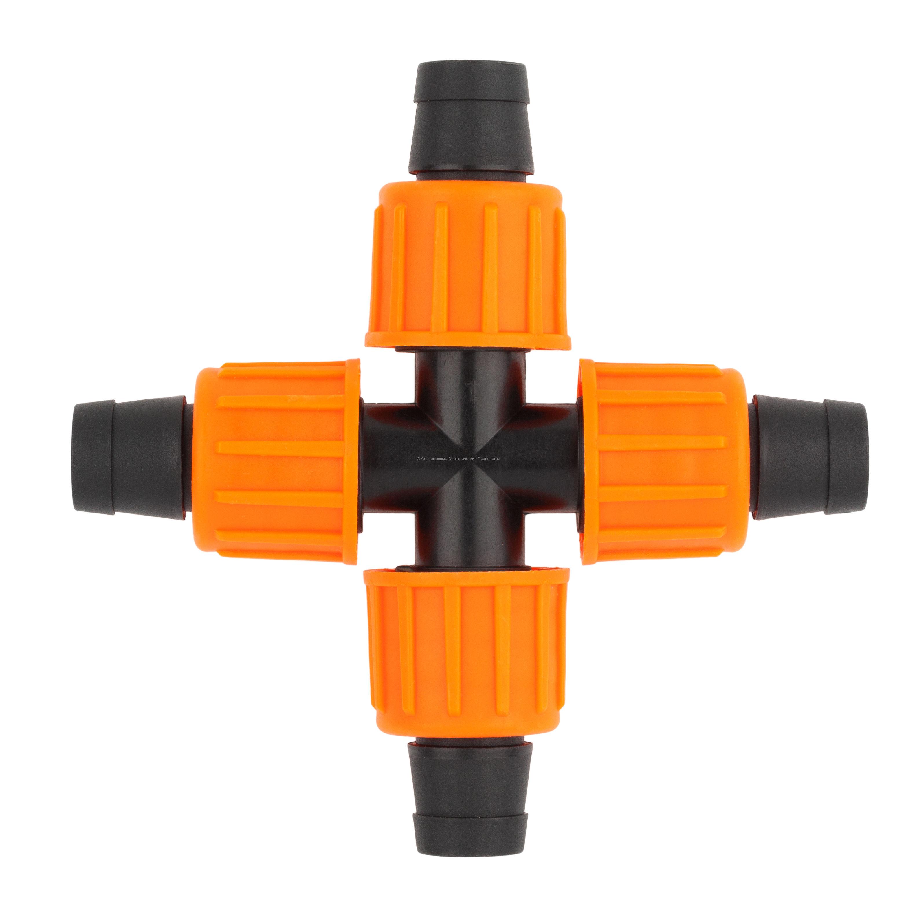 Разветвитель крестовой для капельной ленты 16х16х16x16