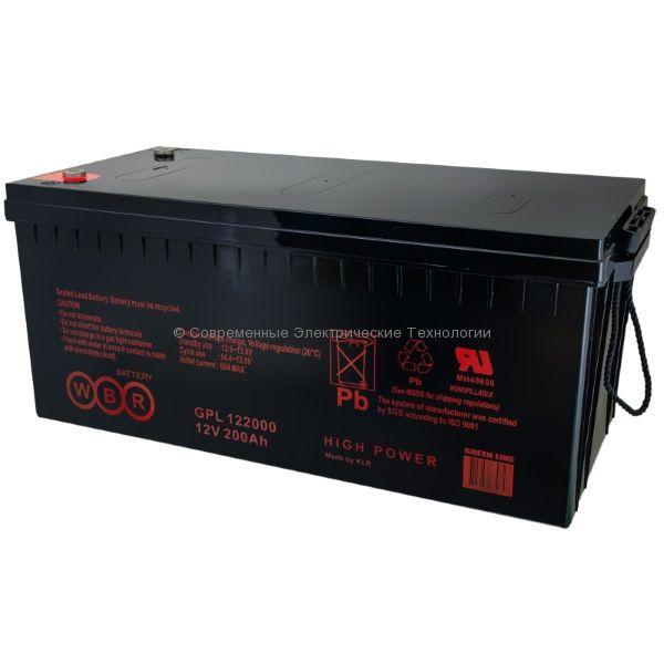 Аккумулятор герметичный 12В 200Ач (GPL 122000 WBR)