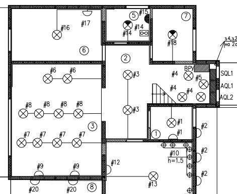 Размещение источников света в проекте умного дома