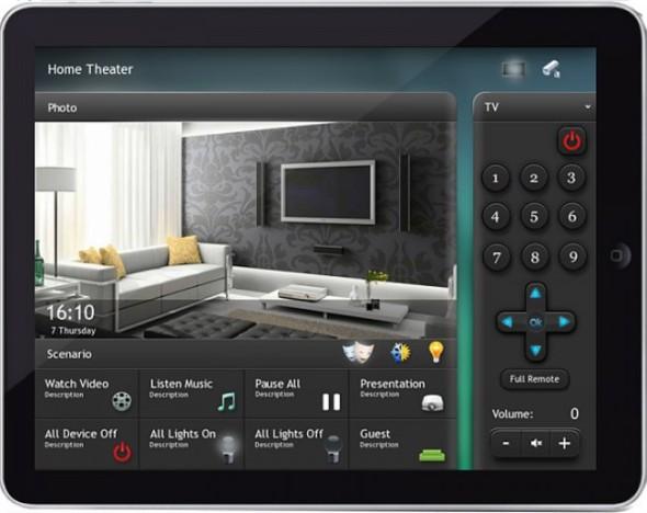 Интерфейс управления домашним кинотеатром