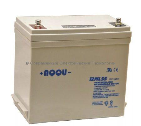 Аккумулятор AQQU 12В 55Ач 12ML55