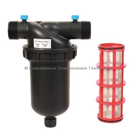 Фильтр сетчатый для капельного полива 120mesh НР1-1/2 дюйма (1750ST120)