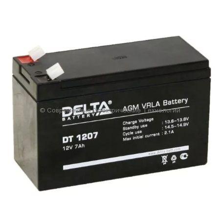 Аккумуляторная батарея DELTA 12В 7Ач (DT 1207)