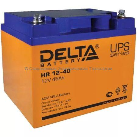 Аккумулятор DELTA 12В 40Ач (HR 12-40 L)