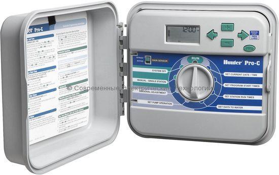 Контроллер автоматического полива Hunter на 6 зон наружний (PCC-601-E)