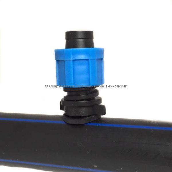 Старт-коннектор капельной ленты с резиновым уплотнителем (PO0117)