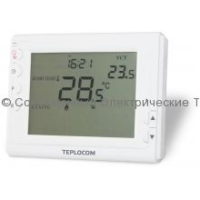 Проводной комнатный встраиваемый программируемый термостат TEPLOCOM TS-Prog-220/3A
