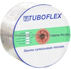 Капельная лента Tuboflex эмиттерная 8mils, 16мм, 20см, 1.6л/час (бухта 2000м)