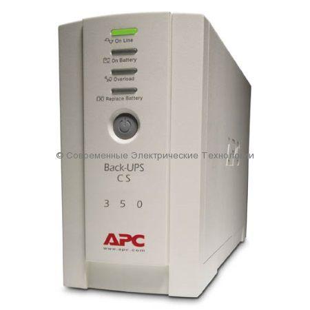 Источник бесперебойного питания APC BACK-UPS CS 350VA 230V RUSSIAN BK350-RS