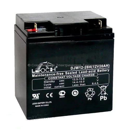 Аккумулятор Leoch 12В 28Ач (DJW12-28H)