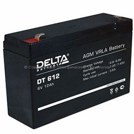Аккумулятор DELTA 6В 12Ач (DT 612)
