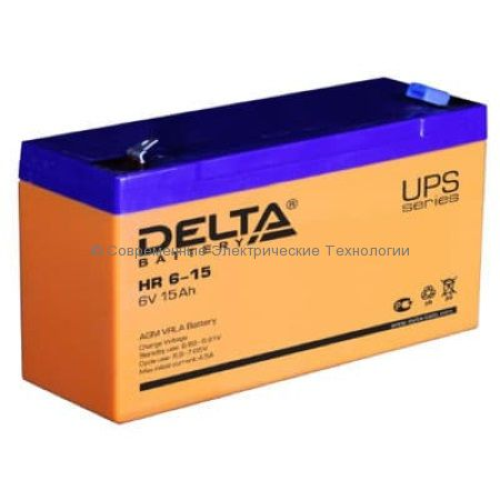 Аккумулятор DELTA 6В 15Ач (HR 6-15)