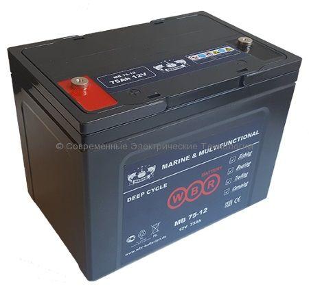 Аккумулятор тяговый герметичный 12В 75Ач (MB 75-12 WBR)