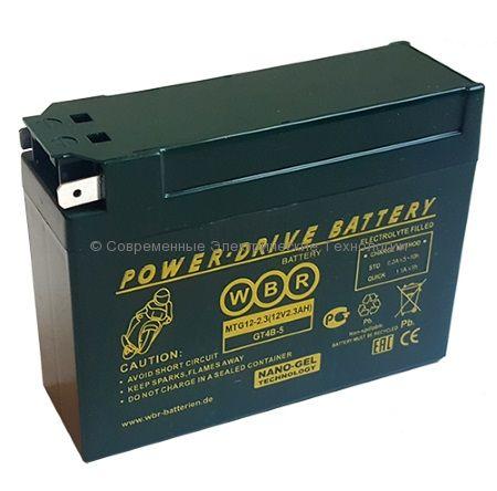 Аккумуляторная батарея стартерная гелевая WBR GEL 12В 2.3Ач (MTG 12-2.3)
