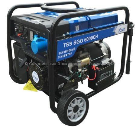 Бензиновый генератор ТСС 6кВА/6кВт (TSS SGG 6000 EH)