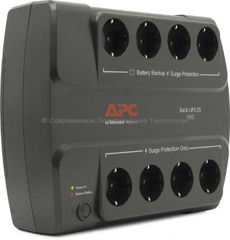 Источник бесперебойного питания APC Back-UPS 400VA ES BE400-RS