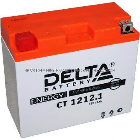 Аккумуляторная батарея стартерная DELTA 12В 12Ач (CT 1212.1)