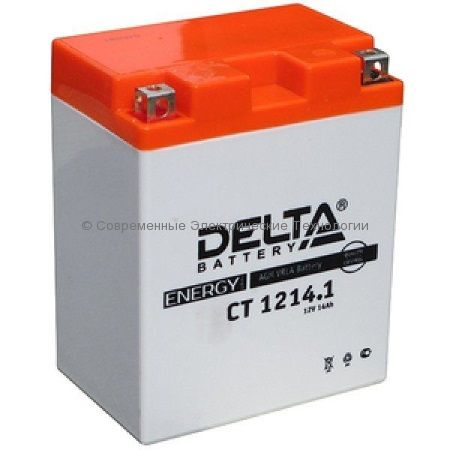 Аккумуляторная батарея стартерная DELTA 12В 14Ач (CT 1214.1)