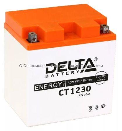 Аккумуляторная батарея стартерная DELTA 12В 30Ач (CT 1230)
