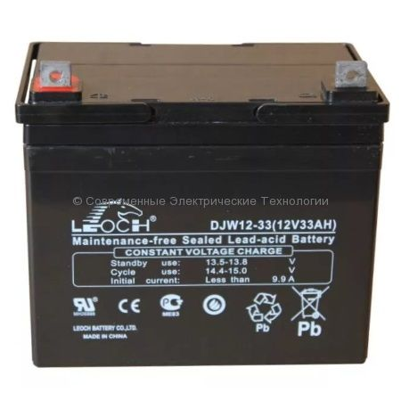 Аккумулятор Leoch 12В 33Ач (DJW12-33)