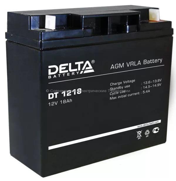 Аккумулятор DELTA 12В 18Ач (DT 1218)