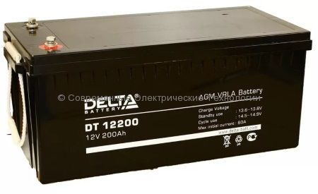 Аккумулятор DELTA 12В 200Ач (DT 12200)