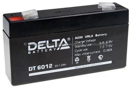 Аккумуляторная батарея DELTA 6В 1.2Ач (DT 6012)