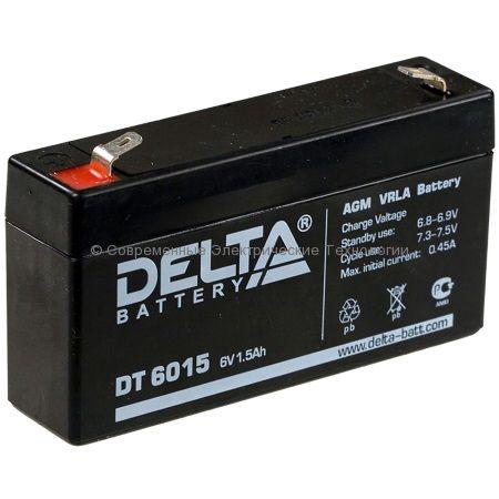 Аккумуляторная батарея DELTA 6В 1.5Ач (DT 6015)