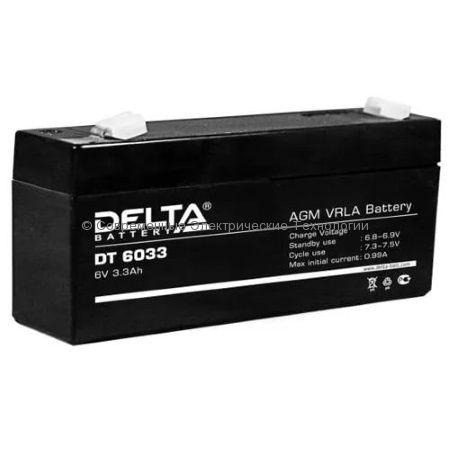 Аккумуляторная батарея DELTA 6В 3.3Ач (DT 6033)