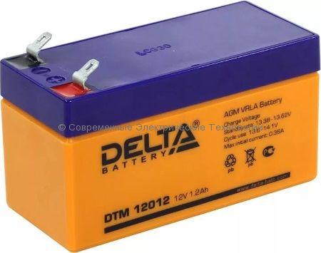 Аккумуляторная батарея DELTA 12В 1.2Ач (DTM 12012)