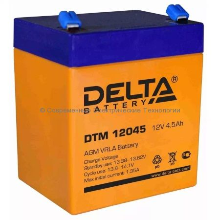 Аккумуляторная батарея DELTA 12В 4.5Ач (DTM 12045)