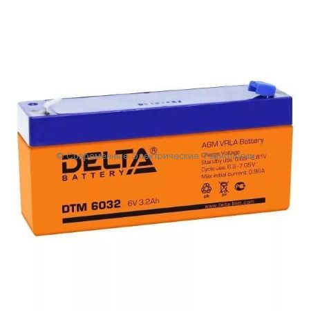 Аккумуляторная батарея DELTA 6В 3.2Ач (DTM 6032)