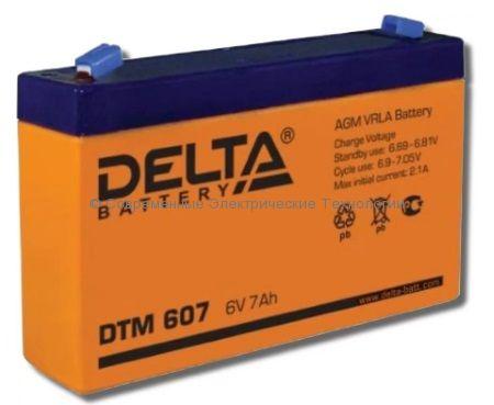 Аккумуляторная батарея DELTA 6В 7Ач (DTM 607)
