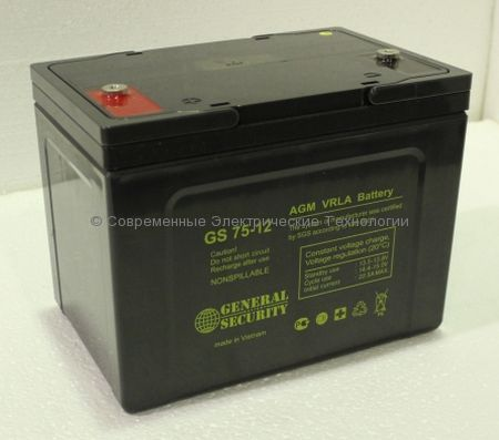 Аккумулятор General Security GS 12В 75Ач (GS 75-12)