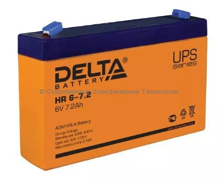 Аккумулятор DELTA 6В 7.2Ач (HR 6-7.2)