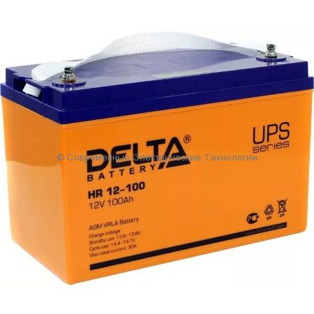 Аккумулятор DELTA 12В 100Ач (HR 12-100)