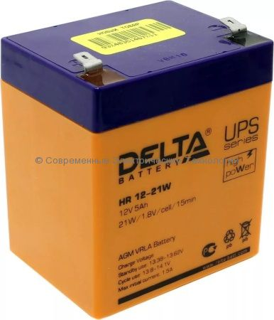 Аккумулятор DELTA 12В 5Ач (HR 12-21W)