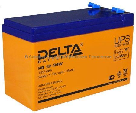 Аккумулятор DELTA 12В 9Ач (HR 12-34W)