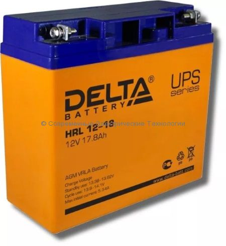 Аккумулятор DELTA 12В 18Ач (HRL 12-18)