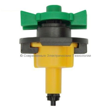 Микроспринклер 66л/час радиус 3.2м жёлтый (MS8160)