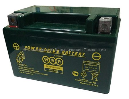 Аккумуляторная батарея стартерная WBR 12В 10Ач (MT 12-10-A)