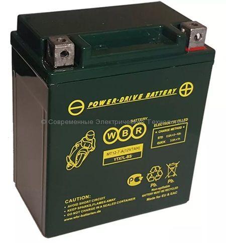 Аккумуляторная батарея стартерная WBR 12В 7Ач (MT 12-7-A)